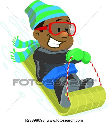 clip art of sledding down a hill k23898098 search