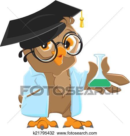 clipart of owl teacher k21795432 search clip art illustration rh fotosearch com owl education clipart Teacher Bird Clip Art