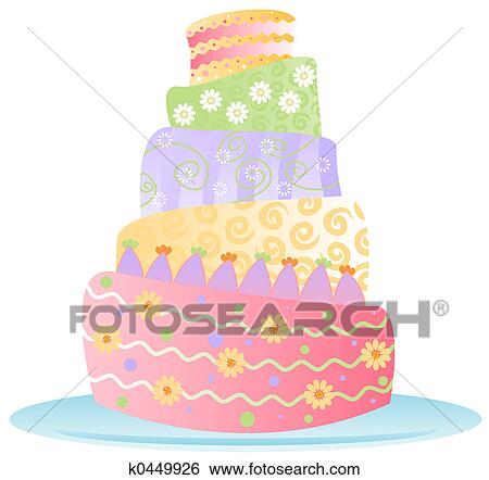 Stock Illustration of Birthday Cake Isol k0449926 Search Clip