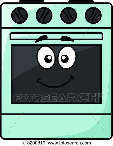 clip art of fun kitchen appliance a happy oven k18200819 search rh fotosearch com open oven clipart oven clipart svg