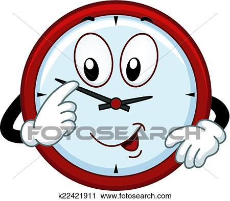 clipart of clock mascot k22421911 search clip art illustration rh fotosearch com mascot clipart software mascot clipart free