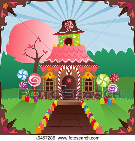 Stock illustration gingerbread house fotosearch search clip art