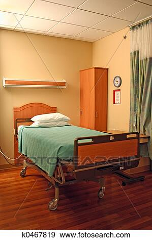 Stock Photograph of hospital bed k0467819 - Search Stock ...