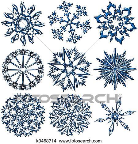 Dessins flocons neige collection k0468714 recherche de clip arts d 39 illustrations et d - Flocon dessin ...