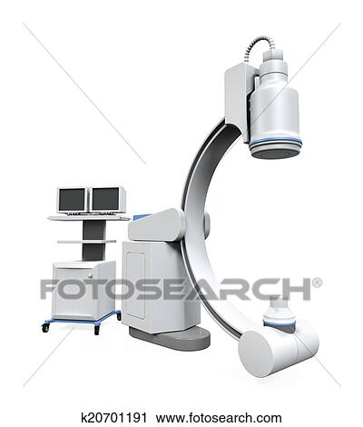 Clipart of C Arm X-Ray Machine Scanner k20701191 - Search ...