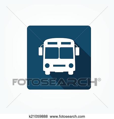 剪贴画 公共汽车站, 图标高清图片