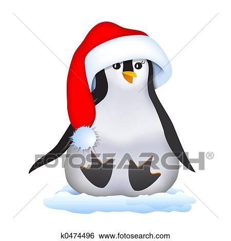stock illustration weihnachten pinguin in. Black Bedroom Furniture Sets. Home Design Ideas