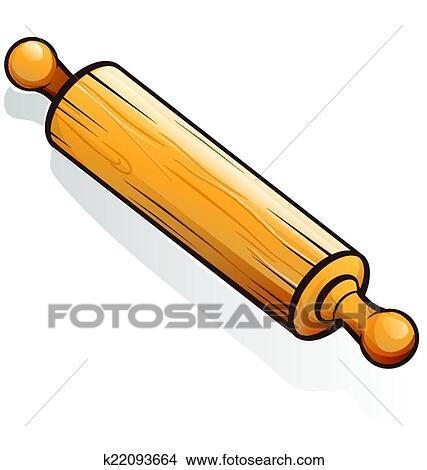 Clipart rouleau p tisserie dessin anim k22093664 - Rodillo para lacar ...