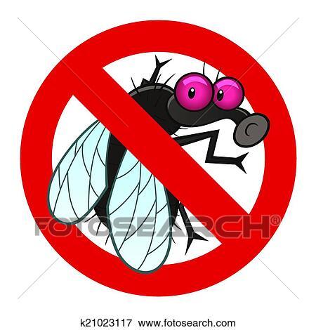 Clipart anti mouche signe k21023117 recherchez des cliparts des illustrations des for Peinture anti mouche
