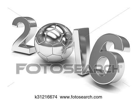 手绘图 - 新年, 2016, 同时,, 足球.图片