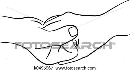 Hands Clasped Together Drawing Hands Clasping Together