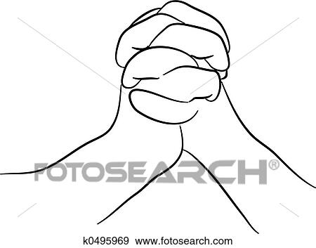 Hands Clasped Together Drawing Two Hands Clasped Together