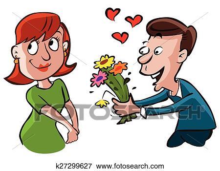 Clipart coupler tomber amoureux k27299627 recherchez - Clipart amour ...