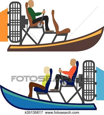 clip art of airboat k35135617 search clipart illustration posters rh fotosearch com clipart gondola venice clipart gondole