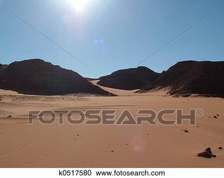 Stock Photography of Sahara desert k0517580 - Search Stock Photos ...