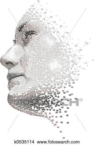 手绘图 - 妇女脸