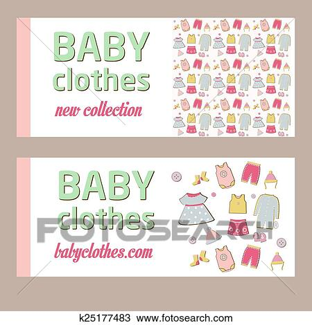 Clipart of Shop childrens clothing for boys and girls. Visual ...