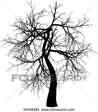 手绘图 - 冬天树