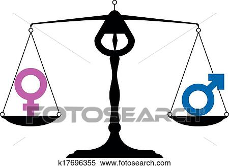 clipart of gender equality symbols k17696355 search clip art rh fotosearch com right to equality clipart clipart equality