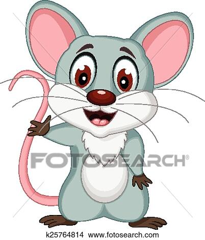 剪贴画 - 漂亮, 老鼠, 卡通漫画, 形成