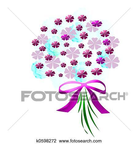 clip art of flower bouquet k0598272 search clipart illustration rh fotosearch com clipart flower bouquet clipart bouquet of flowers