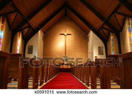 Stock Image - Inside of a church. Fotosearch - Search Stock Photos, Mural Pictures, Photographs, and Photo Clipart