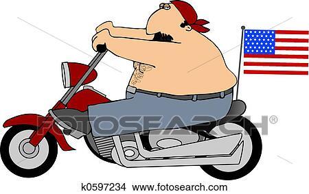 手绘图 - 爱国, 骑自行车的人