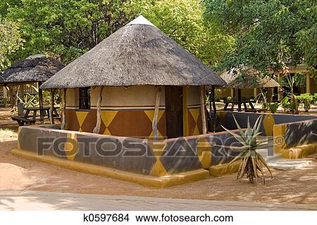 Stock Photo Of Traditional African House K0597684 Search