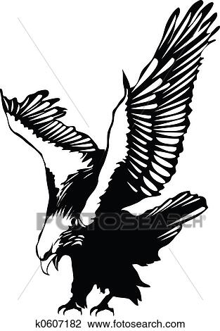 clip art of flying eagle k0607182 search clipart illustration rh fotosearch com flying eagle clipart black and white Flying Eagle Sketch