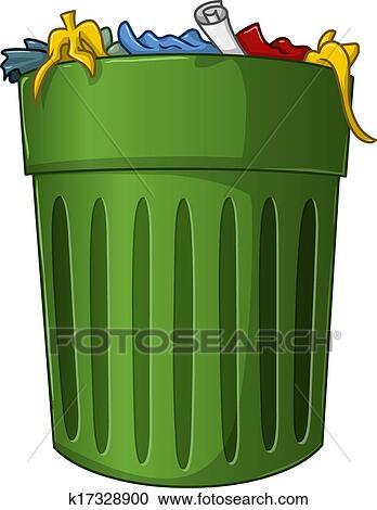 Clipart poubelle d chets m nagers int rieur k17328900 recherchez des clip arts des - Dessin de poubelle ...