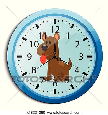 clipart rigolote dessin anim horloge pour gosses k18231060 recherchez des clip arts. Black Bedroom Furniture Sets. Home Design Ideas