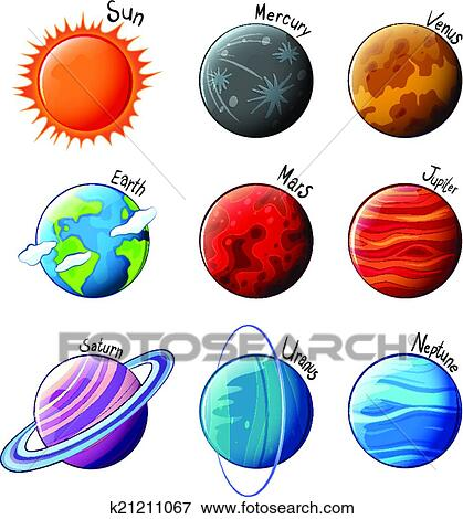 Clip Art Solar System Clipart clipart of solar system k22310674 search clip art illustration planets the system