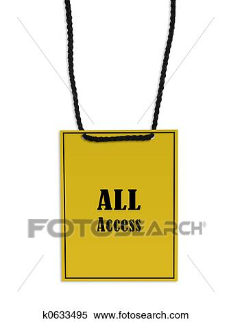 Stock Image of All Access Pass k0633495 - Search Stock ...