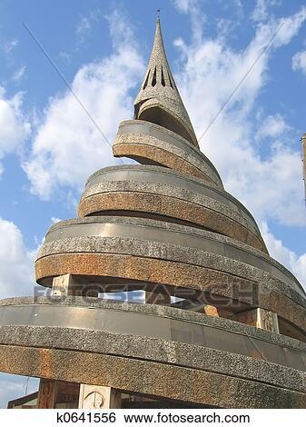 Banque d 39 images africaine urbain architecture moderne spirale ca - Architecture africaine moderne ...