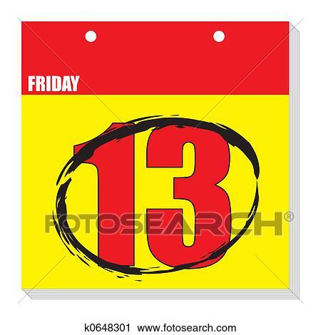 Clipart calendario fri 13 k0648301 cerca clipart for Clipart calendario