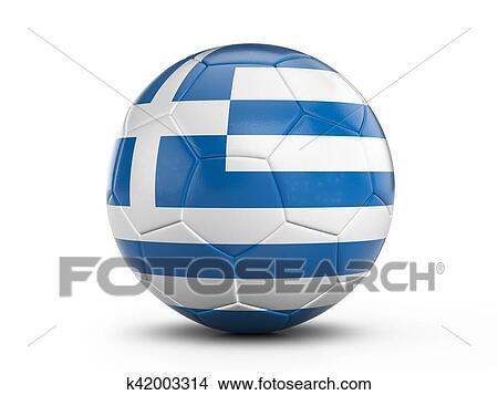 手绘图 - 足球, greece旗图片