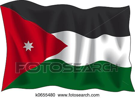Stock Illustrations of Jordan flag k0655480 - Search Clipart ...