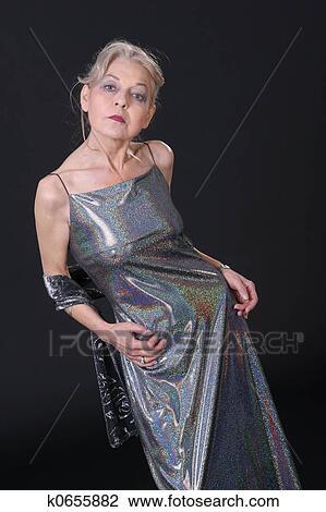 Reife ältere Dame Bild