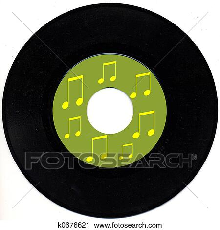 Stock Photography Of Vintage 45 Rpm Record K0676621