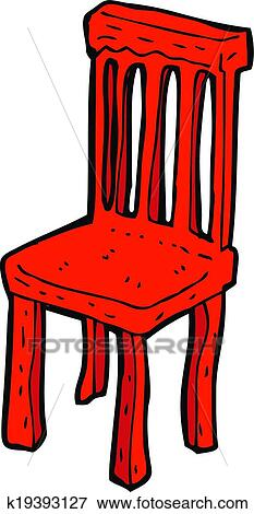 Clipart dessin anim vieille chaise bois k19393127 for Chaise dessin