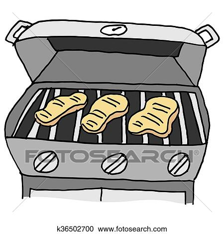 Clipart of Barbecue grilled chicken k36502700 - Search Clip Art ...