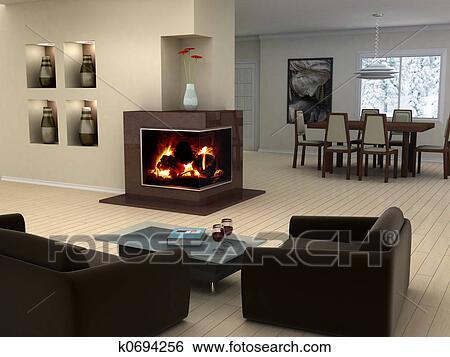 Archivio di immagini casa interno disegno k0694256 for Disegno casa interno