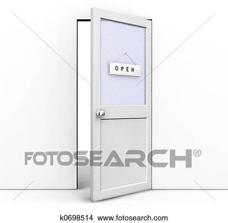 Dessins porte ouverte k0698514 recherche de clip arts for Porte ouverte dessin
