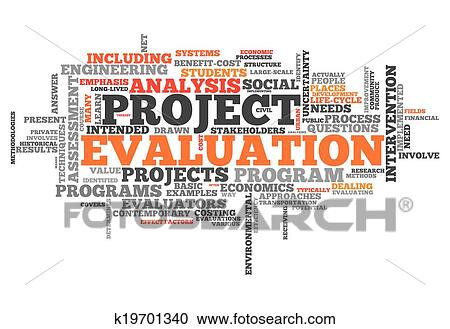 Stock Illustrations Of Word Cloud Project Evaluation K19701340