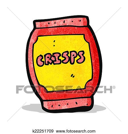 Clip Art of cartoon potato chips bag k22251709 - Search Clipart ...