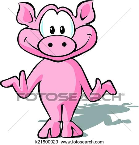 clip art of cute pig k21500029 search clipart illustration rh fotosearch com cute pig clip art free cute pig clipart black and white