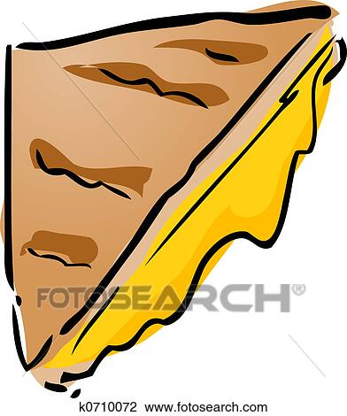 clip art of grilled cheese sandwich k0710072 search clipart rh fotosearch com Grilled Cheese Drawing Grilled Cheese Drawing