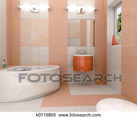 Stock bild modernes badezimmer k0715855 suche for Badezimmer clipart