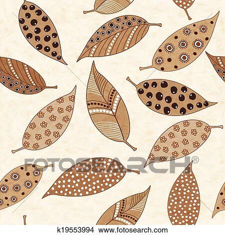 剪贴画 - 秋季树叶