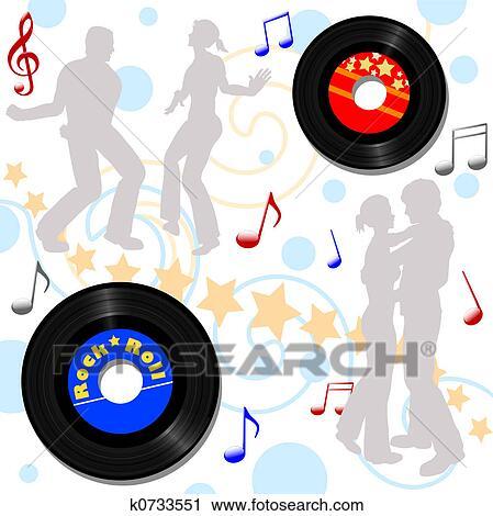 Clipart Of Retro 45 Rpm Disco Record Hop K0733551 Search